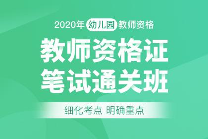 2020年幼兒園教師資格筆試通關班