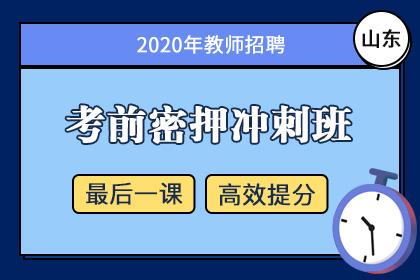 2020年山东教师招聘笔试考前密押冲刺班