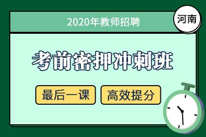 2020年河南教师招聘笔试考前密押冲刺班