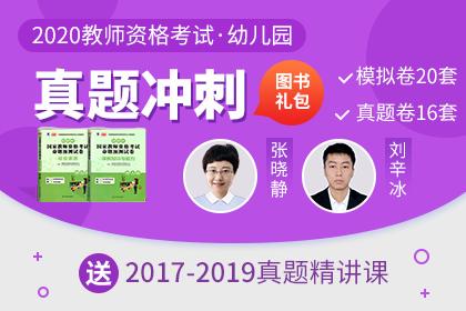 2020年幼儿园教师资格图书礼包【真题冲刺】(历年真题解析课+真题卷包邮)