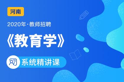 2020年河南教师招聘教育学系统精讲课
