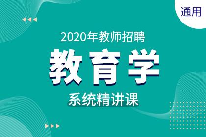 2020年通用版教师招聘教育学系统精讲课