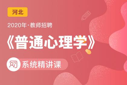 2020年河北教师招聘普通心理学系统精讲课