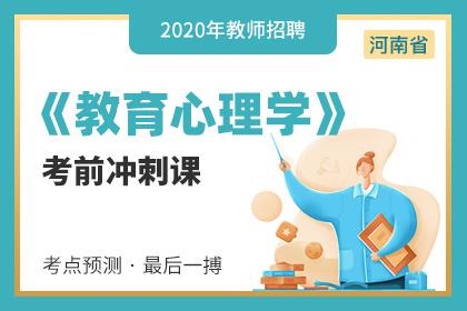 2020年河南教师招聘教育心理学笔试考前冲刺课
