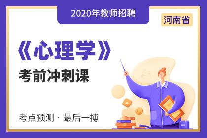 2020年河南教师招聘普通心理学考前冲刺课