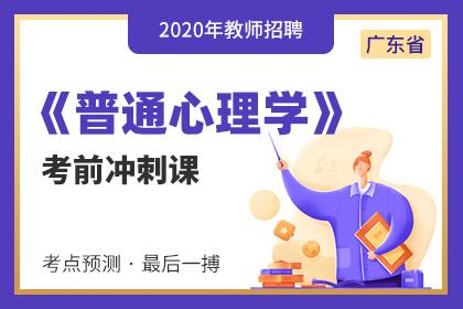 2020年广东教师招聘普通心理学考前冲刺课