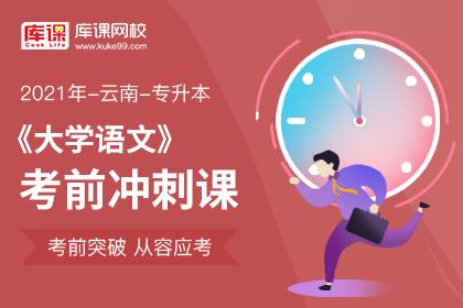 2021年云南专升本大学语文冲刺预测课