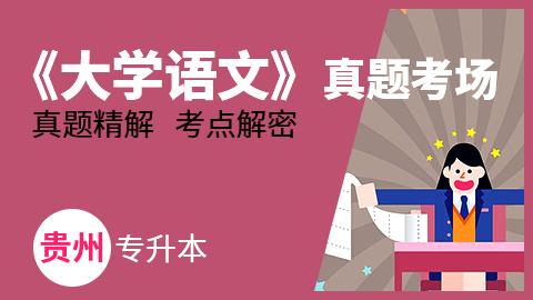贵州专升本《大学语文》历年真题考场