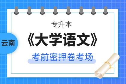 云南专升本大学语文考前密押卷考场