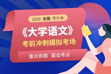 2020年全国专升本大学语文考前冲刺模拟考场