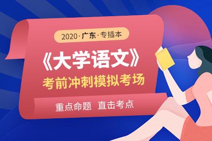 2020年广东专插本大学语文考前冲刺模拟考场