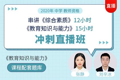 2020中学教师资格•考前冲刺班【课程配套题库•教育知识与能力】