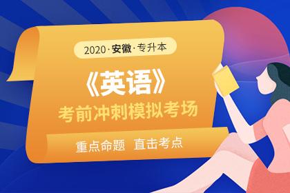 2020年安徽专升本英语考前冲刺模拟考场