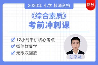 2020小学教师资格《综合素质》冲刺直播课