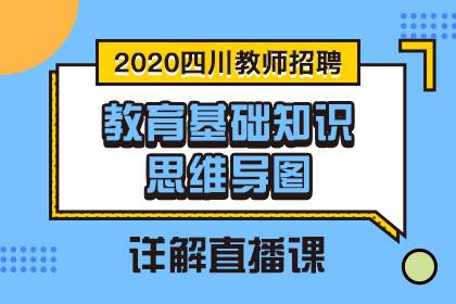 2020四川教師招聘•教育基礎知識思維導圖•詳解直播課