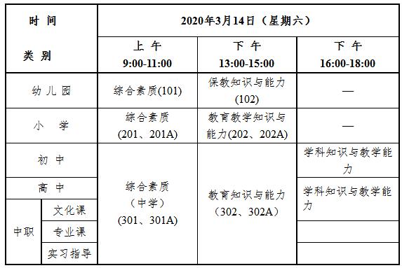 浙江2020上半年教師資格證考試筆試公告