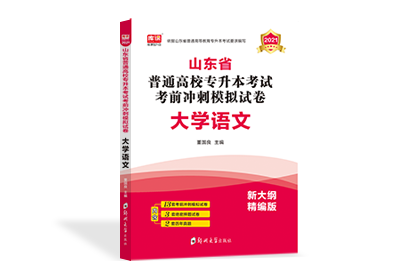 2021年山东省专升本考前冲刺模拟试卷-语文