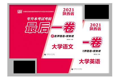 2021年陕西专升本考试英语+大学语文(押题试卷)
