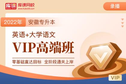 2022年安徽专升本VIP高端班《英语+语文》