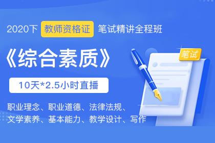 2020下小学教师资格证笔试《综合素质》精讲课(下)
