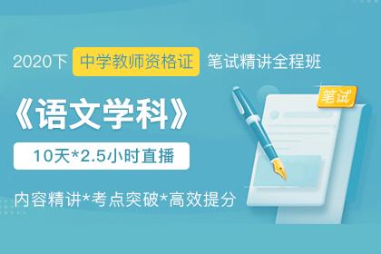 2020下中学教师资格证笔试《语文》学科精讲课