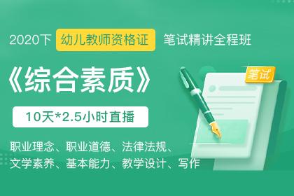 2020下幼儿教师资格证笔试《综合素质》精讲课(上)