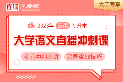 2023年云南专升本大学语文考前冲刺串讲•大二专享