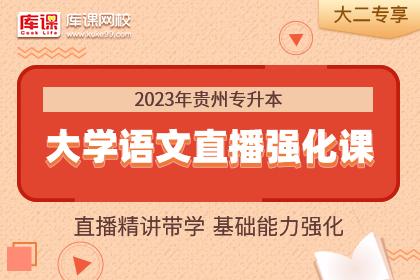2023年贵州专升本大学语文基础强化精讲•大二专享