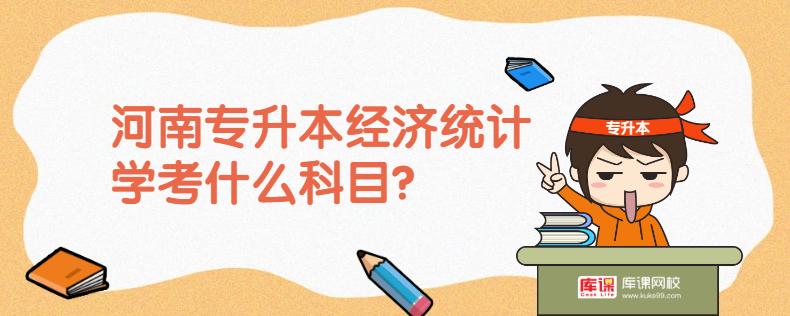 河南专升本经济统计学考什么科目?