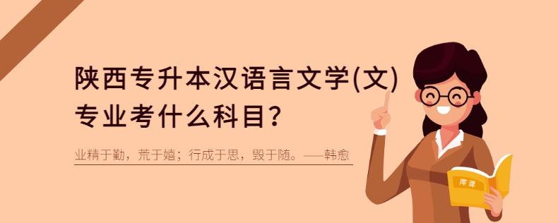 陕西专升本汉语言文学(文)专业考什么科目?
