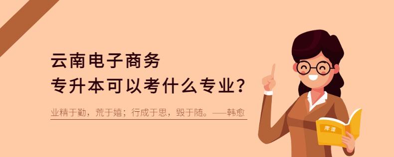 云南电子商务专升本可以考什么专业?