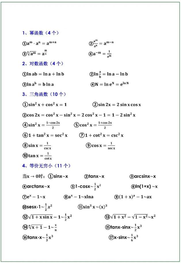 贵州专升本高等数学知识点
