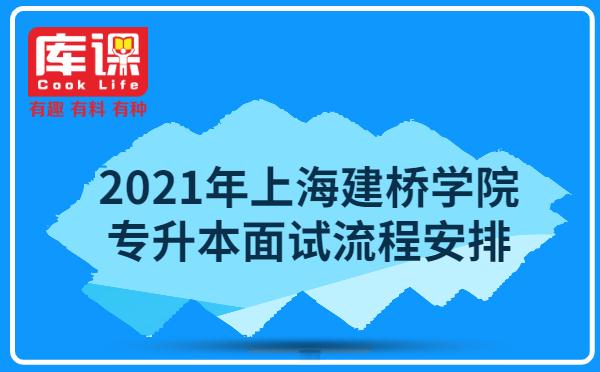 2021年上海建桥学院专升本招生考试面试流程安排