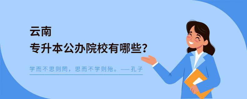 云南专升本公办院校有哪些