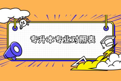 2021年武汉工商学院专升本报考专业对应一览表