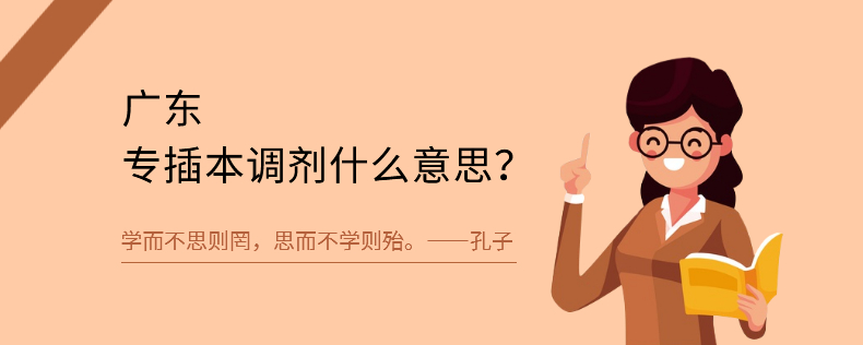 广东专插本调剂什么意思