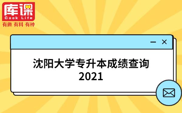 沈阳大学专升本成绩查询2021