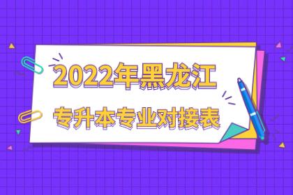 2022年黑龙江幼儿师范高等专科学校专升本专业对接表