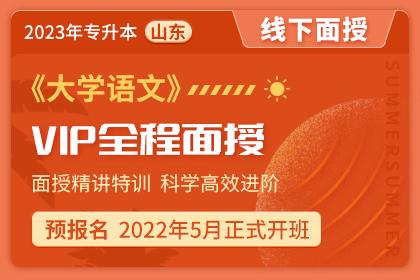 2023年山东省专升本VIP全程面授班《大学语文》