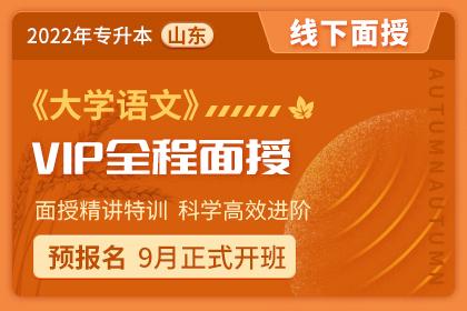 2022年山东省专升本VIP全程面授班《大学语文》