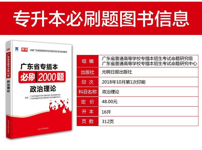 2019广东专插本考试政治理论