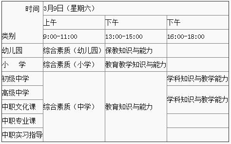 广西教师资格证考试